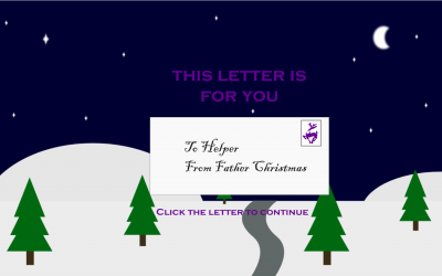 Interactive e-learning Christmas Card